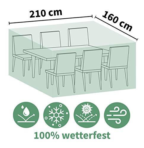 ACAMP Abdeckung für Outdoor Gartenmöbel rechteckig 210x160 cm – schützt vor Wind, Regen und Sonneneinstrahlung – robuste Schutzhülle mit perfektem Sitz – schützt vor Wind, Regen und Sonneneinstrahlung – reißfeste Abdeckhaube
