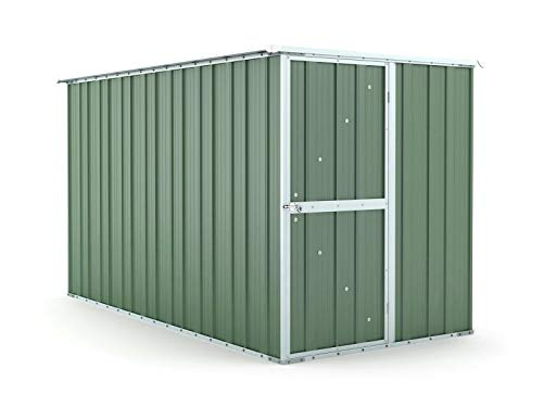 Notek Box in Acciaio Zincato Casetta da Giardino in Lamiera 1.75 x 3.07 m x h1.82 m - 95 kg – 5,4 Metri Quadri – Verde