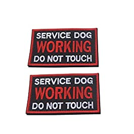 Ultrafun Service Dog Hook & Loop Fastening Tape Patch for Pet Harness Vest – 2 X 3 Inches – Set of 2
