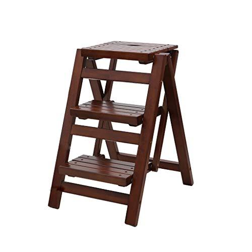 XiuHUa Vouwen Stap Kruk Houten Bar Stoel Hoge En Lage Krukken Verander Schoenen Kruk Plank Bloemenstandaard, Drie Stap Ladder Stap kruk