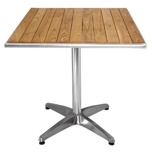 Bolero quadratischer Tisch Eschenholz 1 Bein 70cm