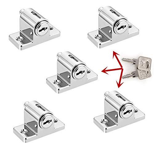 Nologo SSB-JIAJUPJ, 5 Stück Samen Schlüsselschlösser Zink Schiebefenster Terrassen Schraube Türverschlussstift schieben Kindersicherung (Size : As Show)