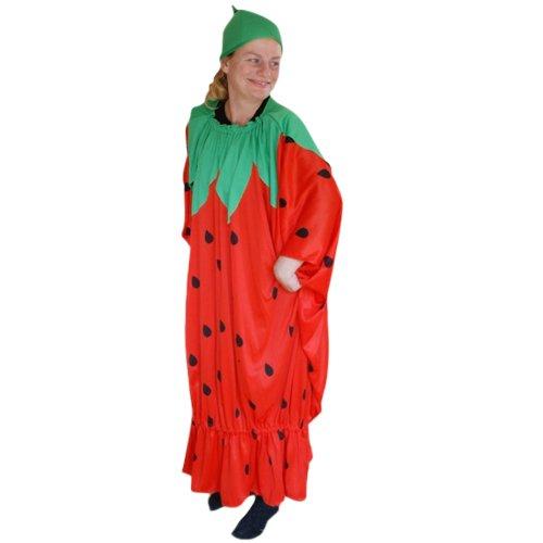 Ikumaal Erdbeer-Kostüm, To77 Gr. M-XL, Erdbeer-Kostüme Erdbeeren Früchte Obst Kostüme Erdbeere-Faschingskostüm, Fasching Karneval, Faschings-Kostüme, Geburtstags-Geschenk Erwachsene