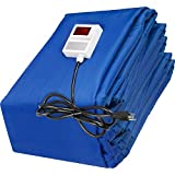 VEVOR Ground Thawing Blanket, Electric Concrete Curing Blanket with 10' x 10' Heated Dimensions, 12' x 12' Finished Dimensions, High Density Concrete Blanket, Snow Melting Mat Traps Heated Walkway Mat