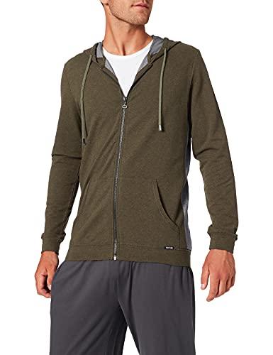 Skiny Sloungewear Jacke Blouson de Sport, Multicolore (Lizard Green Melange 2124), XL Homme