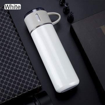 DyNamic 35Oml / 450Ml Roestvrijstalen Thermosfles Geïsoleerde Beker Waterfles - Wit - 450 ml