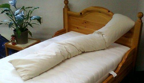 Merino Europa Housse pour Coussin pour Personnes Qui Dorment sur Le Côté 100% Coton AdaptéÀ Coussin De Heimtextilmanufaktur - Nature, Länge 160cm