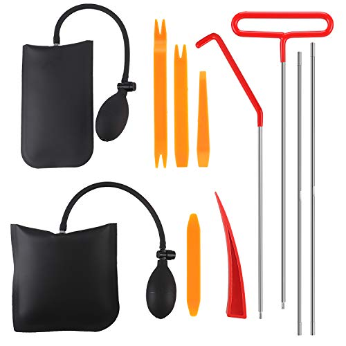 XYK Full Professional Automotive Car Tool Kit with Long Reach Grabber, Air Pump Bag and Non Marring Wedge, Professional Emergency Automotive Tools for Cars Trucks