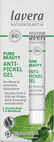 Lavera PURE BEAUTY Anti Pickel Gel – vegan – Naturkosmetik - Kühlt und beruhigt sofort - Bio-Minze und natürlicher Salizylsäure – Klimaneutral – ohne Konservierungsstoffe – ohne Parabene - 15 ml