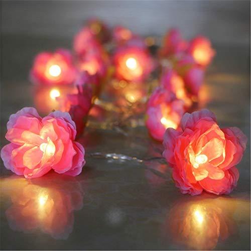 ERGEOB 40/30/ 20 LED kreative rohe Seidenblume LED Lichterketten Batteriebetrieben Rosa Raumdekoration-Nachtlicht