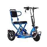 XCBY Pli éLectrique Tricycle ,Petit Scooter éLectrique à Trois Roues ,Convient pour Adulte,...