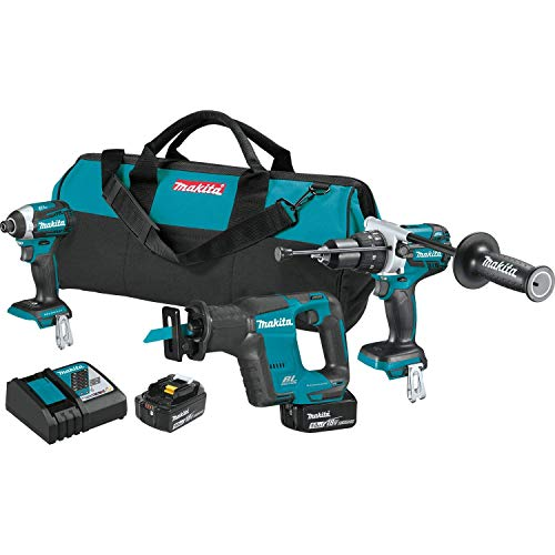 MAKITA XT336T 18V LXT 18-Volt Lithium-Ion Brushless Cordless 3-Pc Tool Combo Kit (Renewed)
