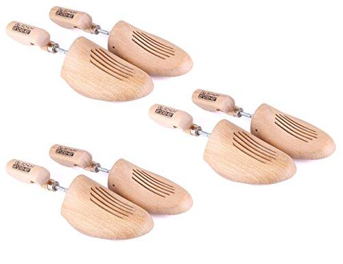 Die Schuhanzieher 3 Paar Set – Schraubspanner aus Buchenholz – Made in Germany – aus nachhaltiger deutscher Forstwirtschaft – z2451(44-45)