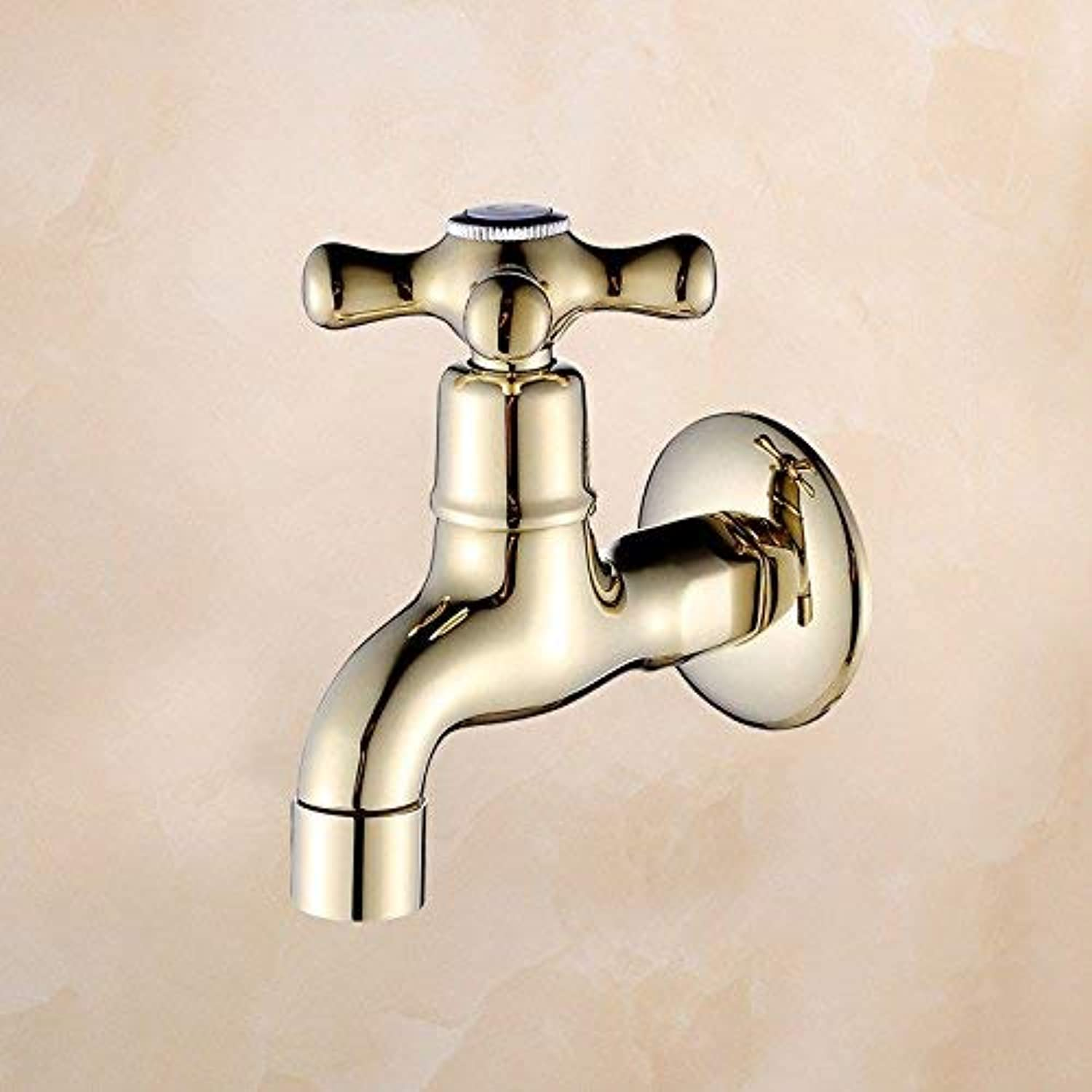 FORTR home Sink Mixer Tap Bathroom Kitchen Basin Tap Leakproof Save Water Antique Extended Sink Kitchen Full Copper Plated Water Nozzle Water Heating