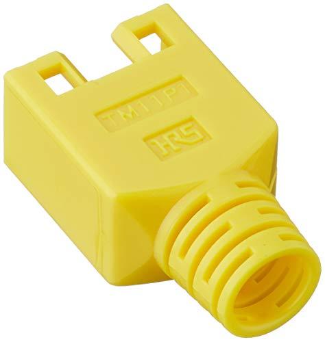 Hirose Knickschutztülle für Modularstecker TM11, Cat 5e, gelb, VPE 10