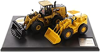 Diecast Masters CAT Caterpillar 966A Wheel Loader (Circa 1960-1963) and CAT Caterpillar 966M Wheel Loader (Current) with Operators Evolution Series 1/50 Diecast Models