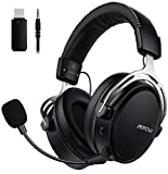 Mpow Air 2,4GHz Wireless Cuffie Gaming per PS4/PC, 3D Surround, Bassa Latenza 17 ore Di Utilizzo Wireless(Cablato Opzionale), Cancellazione del Rumore Microfono Cuffie da gioco over-ear per Switch