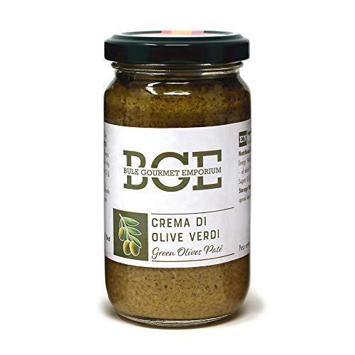 Bulk Gourmet Emporium Paté di olive verdi in barattolo di vetro, 3 x 180 g (540 g totale)