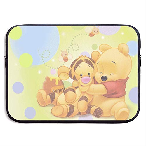Hdadwy Winnie Pooh Laptop Sleeve Bag Tablet Briefcase Ultraportable Protective Cover Neoprene for MacBook Pro/MacBook Air/Notebook Computer 13 inch
