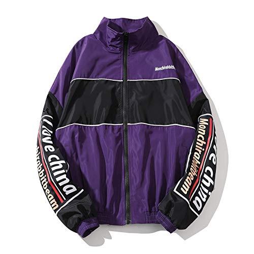 Veste Street Fashion Homme Hiphop Sports Coupe-Vent Couple éTudiants Couleur Matching Jacket
