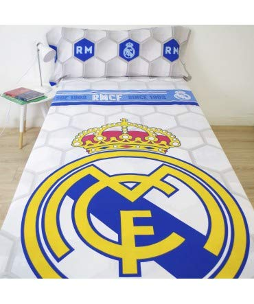 10XDIEZ Juego de sabanas Real Madrid 182056 - Medidas sabanas - 90