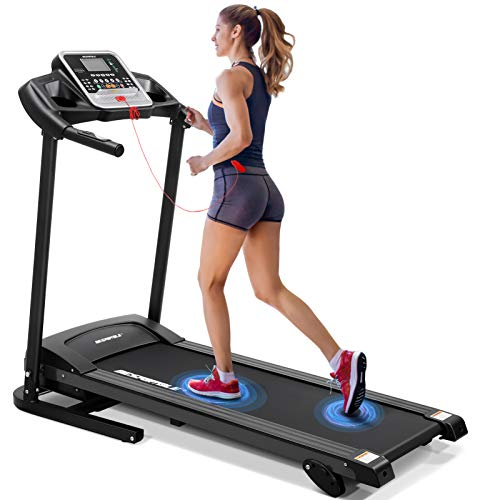Garneck Folding Treadmill,2.0HP Electric Treadmill Motorized Treadmill Walking Running Jogging Treadmill Health & Fitness Smart Treadmill with 264lbs High Weight Capacity for Workout Exercise Fitness
