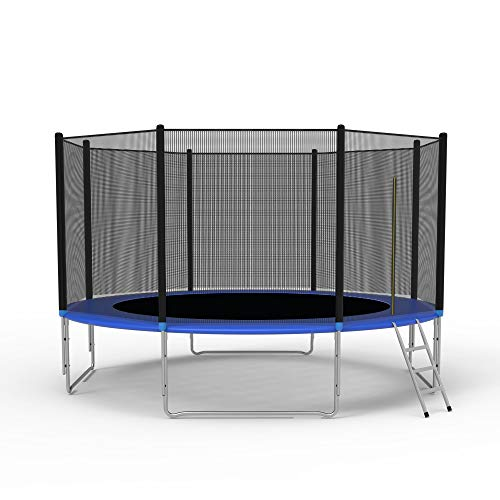 LONABR 10-Foot Trampoline Combo Bounce Jump Trampoline with Safety Enclosure Net and Spring Pad