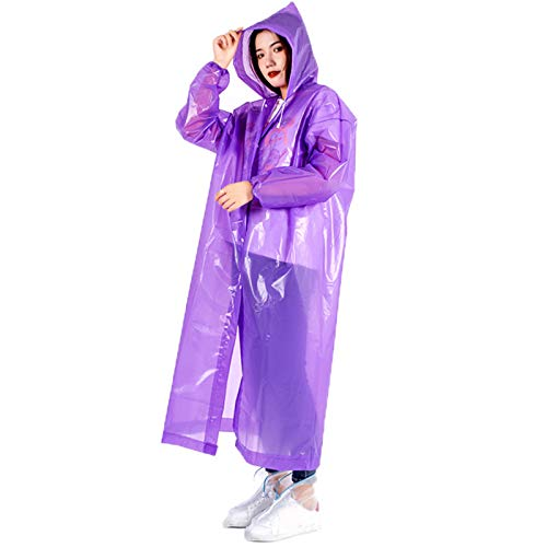 Delisouls Impermeable ligero de EVA | Ponchospara adultos, translúcido, con capucha gruesa para senderismo, viajes, al aire libre, camping, unisex
