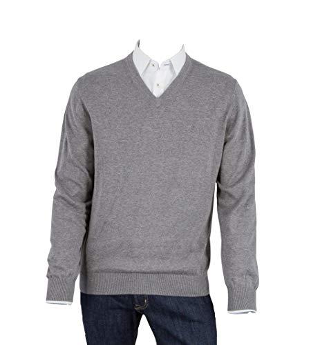 Preisvergleich Produktbild OTTO KERN Pullover in Anthrazit mit V-Ausschnitt,  Größe: 54