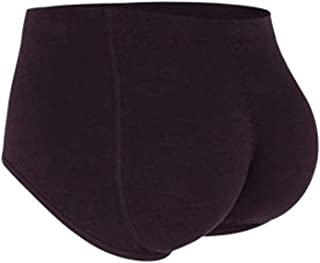 Mens Padded Boxer Butt Lifter Underwear with Invisible Detachable Silica gel Padded Boxer Briefs,Purple,XL