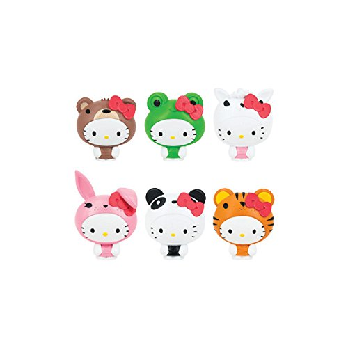Hello Kitty Hello Kitty Fash'Ems Lot of 3 Mystery Capsule Packs Pink Red Yellow Purple Green  Black White One Size