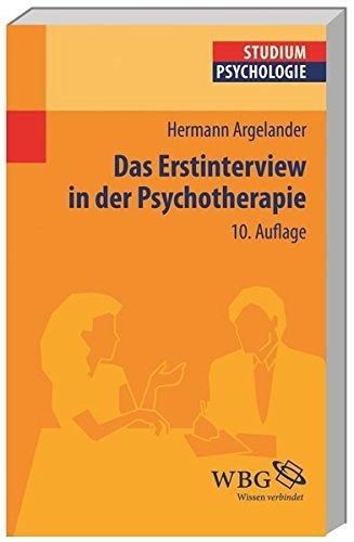 Das Erstinterview in der Psychotherapie