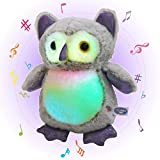 Glow Guards Light up Musical Stuffed Graduation Owl Soft Plush Toy with LED Night Lights Lullabies Singing Glow Birthday for Toddler Kids, 12''