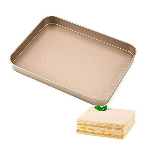 Cake Baking Tools 10 Inch Backen Pan Carbon Stahl Trays Cookie Pizza Brot Form Mikrowelle Gericht Baguette Backofen Stahl Schalen DIY Backformen,4Pcs