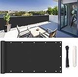 ROBAG Sichtschutz für Balkon Balkonverkleidung, wasserabweisend, Wetterbeständiges und Pflegeleichtes Bambus Sichtschutz Deko für Balkongeländer 1.2x3m