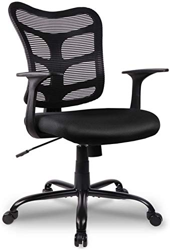 Armless Office Desk Chair, Ergonomic Computer Task Mesh Chair Low-Back Adjustable Height with Swivel...