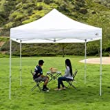 BRUSHFINCH Tent for Home Garden Outdoor Picnic Camping 10 x 10 ft Portable PVC Waterproof Resistance Party Instant Shelter for Advertising Personalised Gazebo Canopy Tent. (Multicolour)