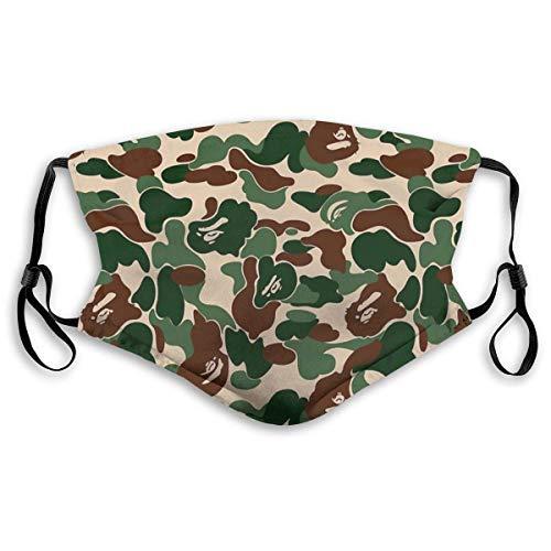 YYTT8 Gesichtsschutz Mundschutz Bape Camo, Kopfbedeckung mit Hut-Hals-Gamasche und austauschbaren Filtern