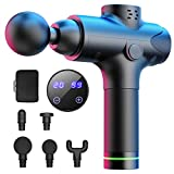 Muscle Massage Gun Percussion Massager,WELTEAYO Deep for Pain Relief Handheld Electric Body Massager with Super Quiet Brushless Motor Sport Drill Portable Muscle Massager with 6 Massage Heads (Black)