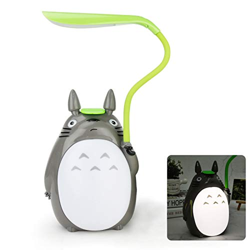 SMF Totoro Night Lamp My Neighbour LED Bedside Lights Creative Animal Table Reading Light Energy-Saving Eye Protection for Kids Gifts Best Gifts Room Decor,E