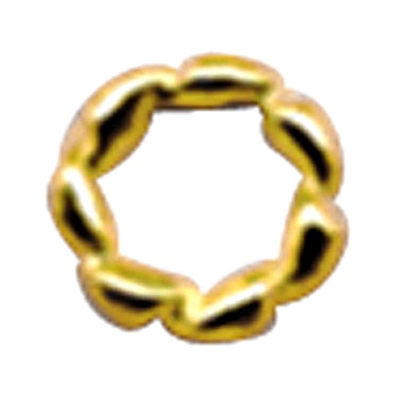 デコードするサスペンション実際プリティーネイル ネイルアートパーツ ツイストリングL ゴールド 10個