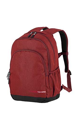 Travelite Handgepäck Rucksack Größe L erfüllt IATA Bordgepäck Maß, Gepäck Serie KICK OFF: Praktischer Rucksack für Urlaub und Sport, 006918-10, 45 cm, 22 Liter, rot