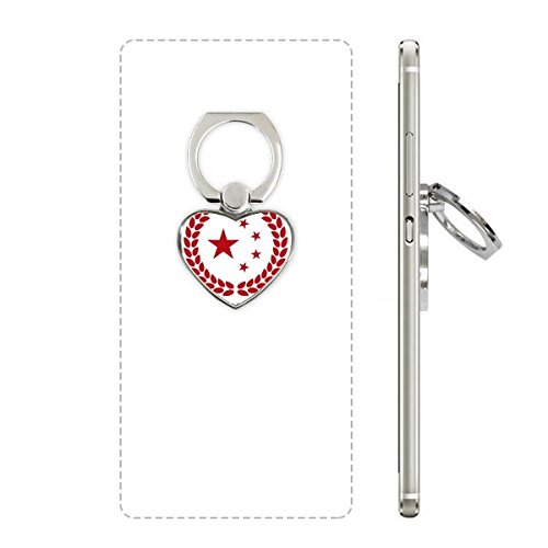 DIYthinker Made In China Stars Tarwe Rijst Rood Hart Telefoon Ring Stand Houder Beugel Universele Ondersteuning Gift