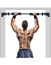 ROMIX Optrekstang, Multifunctioneel Deurkozijn Pull Up Bar met Instelbare Breedte en Vergrendelingsmechanisme, Professionele Thuis Gym Trainer Uitrusting voor Workout, Oefening, Fitness Training