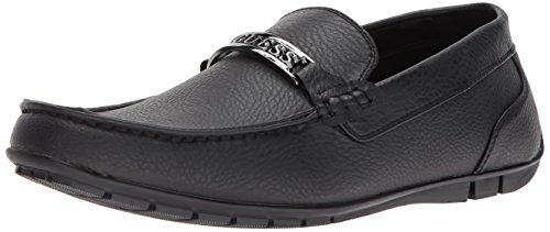 GUESS Men's Monroe Driving Style Loafer, Black, 11