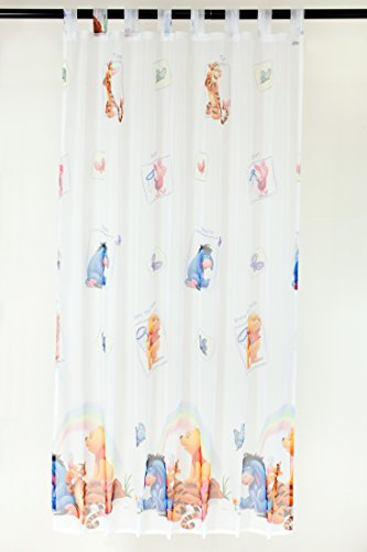 Brandsseller Disney Winnie The Pooh - Schlaufengardine Dekoschal Gardine Vorhang Schlaufenschal Deko fürs Kinderzimmer - 145 x 245 cm
