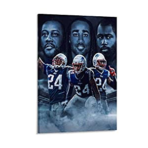 American Football Player Ty Law?Stephon Gilmore?Darrelle Revis Sports Poster Poster Decorative Painting Canvas Wall Art Living Room Posters Bedroom Painting 12x18inch(30x45cm)
