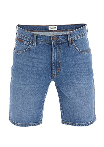 Wrangler Herren Jeans Short Texas Kurze Stretch Shorts Regular Fit Baumwolle Bermuda Sommer Hose Blau Schwarz w30 w31 w32 w33 w34 w36 w38 w40, Größe:W 34, Farbe:Vintage Worn (W11CKN95Z)