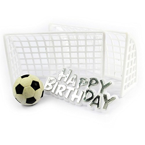 Creative Party Football Cake Topper (Goal Posts) (White)