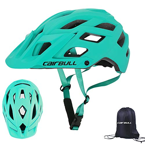 Cairbull Adunlts Men/Women Bicycle Mountain bike MTB Helmet 22 Vents Cycling Helmet with Sun Visor 55-61 cm Adjustable Bike Racing with Storage Backpack